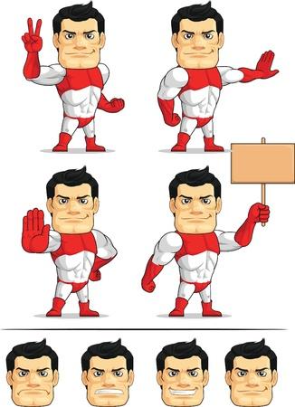 customizable: Superhero Customizable Mascot 7 Illustration