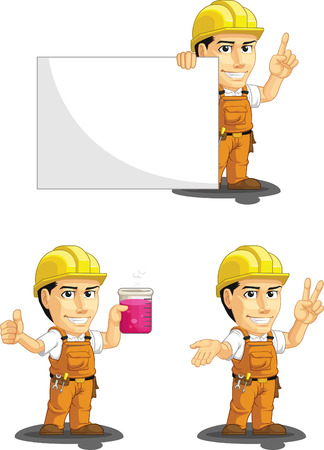 foreman: Industrial Construction Worker Customizable Mascot 6