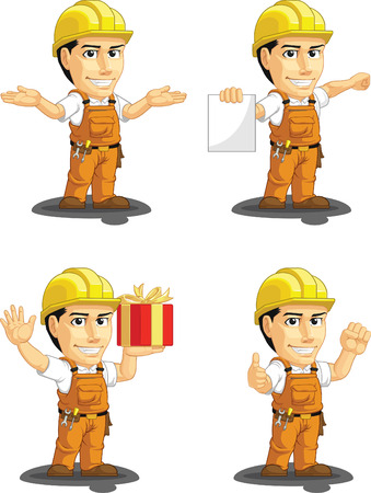 industrial construction: Industrial Construction Worker Customizable Mascot 11