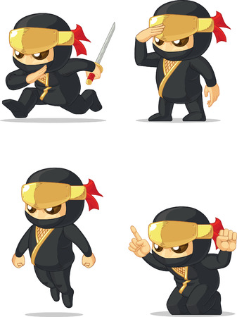 Ninja Customizable Mascot Vectores