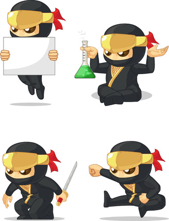 cartoon mascot: Ninja Customizable Mascot 7