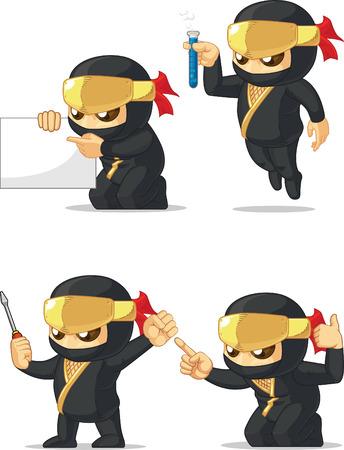 customizable: Ninja Customizable Mascot 9 Illustration