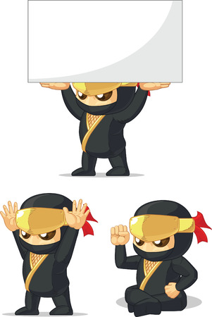 assassin: Ninja Customizable Mascot 11