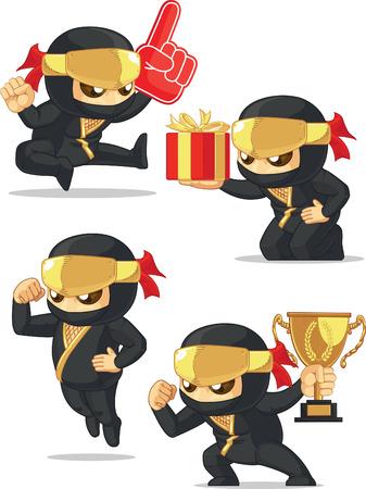customizable: Ninja Customizable Mascot 17 Illustration