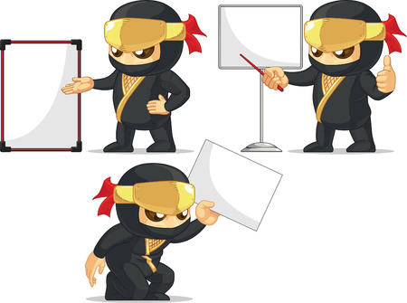 Ninja Customizable Mascot 18 Vector
