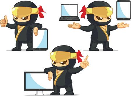 Ninja Customizable Mascot 19