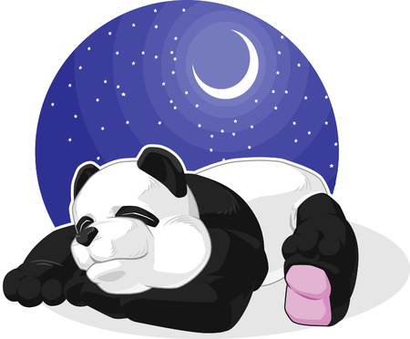 sleeping animals: Panda Sleeping