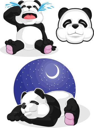 endanger: Panda Set 2 - Sleeping, Crying, Panda Head