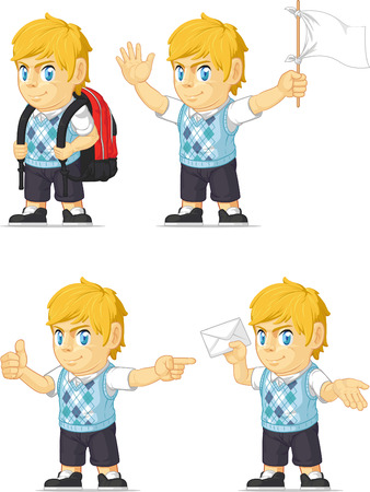 customizable: Blonde Rich Boy Customizable Mascot 9 Illustration