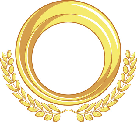 Golden Badge Ornament Vector