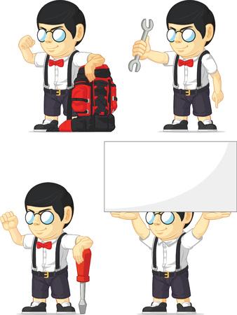 customizable: Nerd Boy Customizable Mascot 6