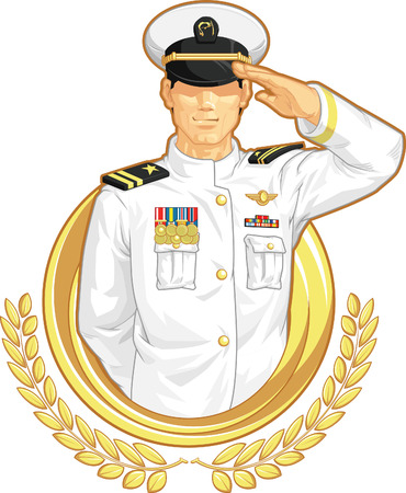 salute: Military Officer in Salute Gesture