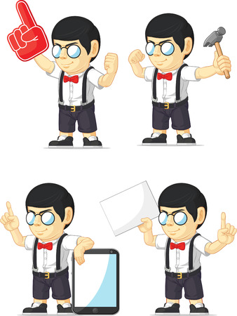 Nerd Boy Customizable Mascot 11 Stock Vector - 27144685