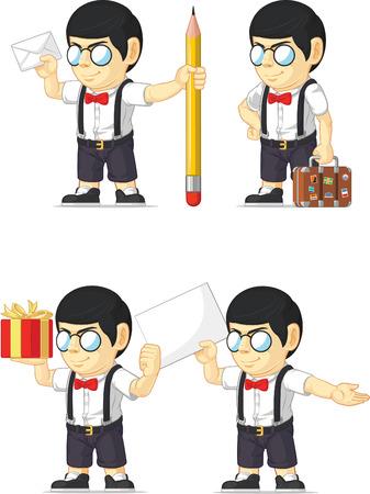 customizable: Nerd Boy Customizable Mascot 14