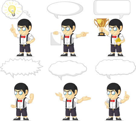 Nerd Boy Customizable Mascot 21 Vector