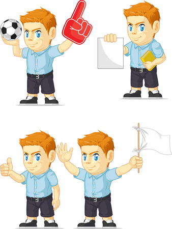 red head: Red Head Boy Customizable Mascot