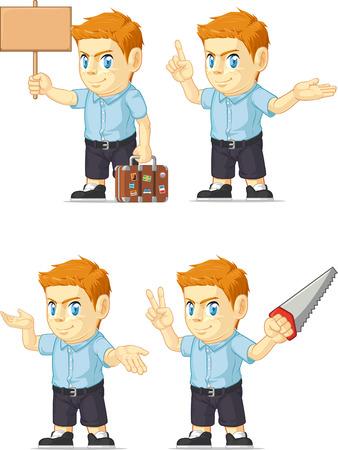 red head: Red Head Boy Customizable Mascot 3