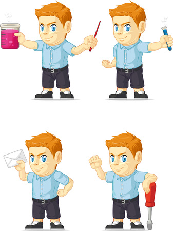 red head: Red Head Boy Customizable Mascot 12