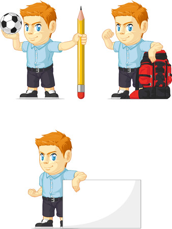 red head: Red Head Boy Customizable Mascot 14