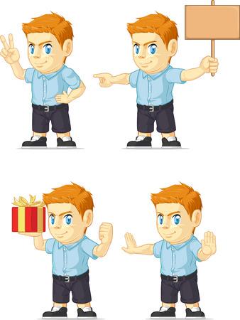 red head: Red Head Boy Customizable Mascot 15