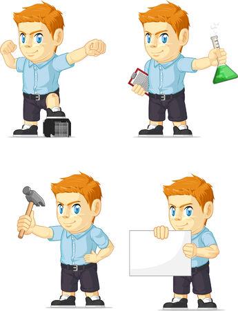 red head: Red Head Boy Customizable Mascot 16