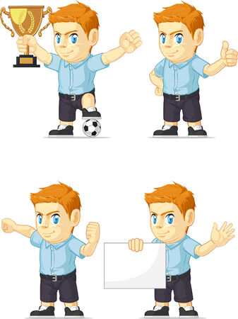 red head: Red Head Boy Customizable Mascot 17
