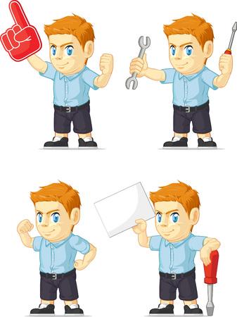 customizable: Red Head Boy Customizable Mascot 19