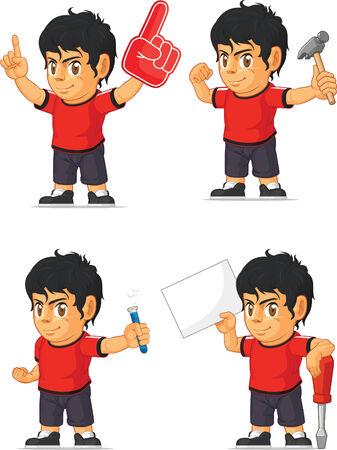 customizable: Soccer Boy Customizable Mascot 6