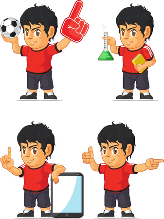 pointing up: Soccer Boy Customizable Mascot 7