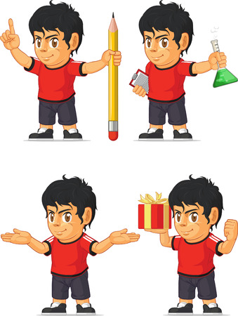Soccer Boy Customizable Mascot 8 Vector