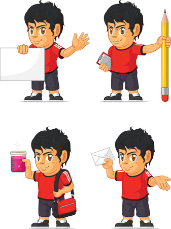hispanic boy: Soccer Boy Customizable Mascot 9 Illustration