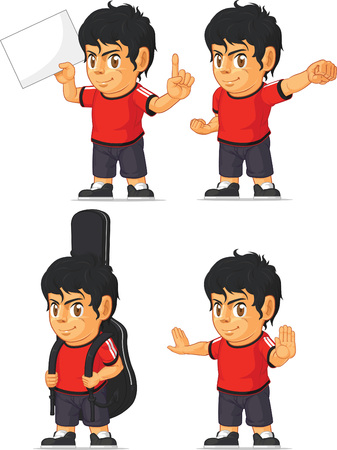 Soccer Boy Customizable Mascot 10 Vector