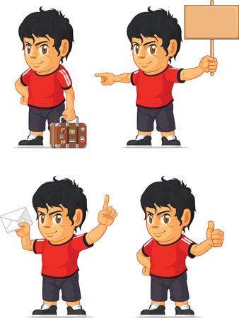 customizable: Soccer Boy Customizable Mascot 17 Illustration