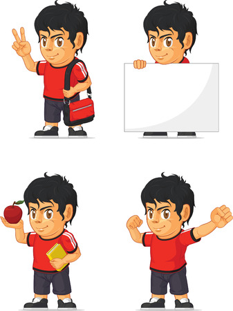 hispanic boy: Soccer Boy Customizable Mascot 13