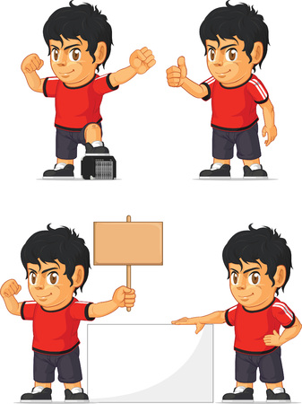 customizable: Soccer Boy Customizable Mascot 18 Illustration
