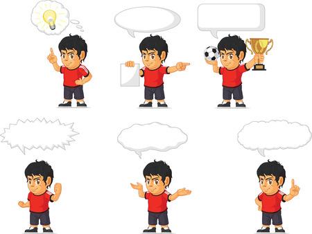 hispanic boy: Soccer Boy Customizable Mascot 21