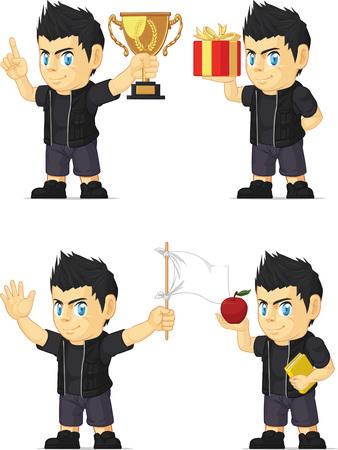 customizable: Spiky Rocker Boy Customizable Mascot