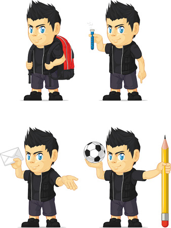 the vocalist: Spiky Rocker Boy Customizable Mascot 8