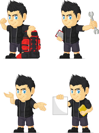 the vocalist: Spiky Rocker Boy Customizable Mascot 11