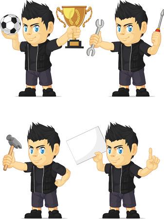 spiky: Spiky Rocker Boy Customizable Mascot 16