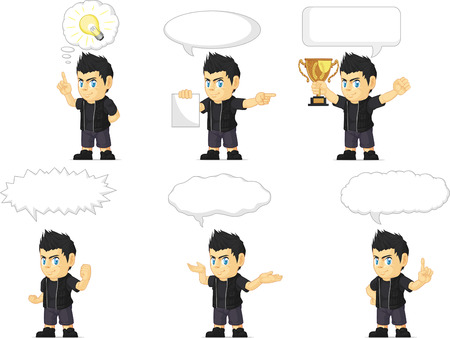 the vocalist: Spiky Rocker Boy Customizable Mascot 21