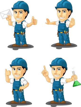 customizable: Technician or Repairman Customizable Mascot 4 Illustration