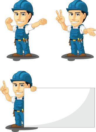 copy machine: Technician or Repairman Customizable Mascot 7