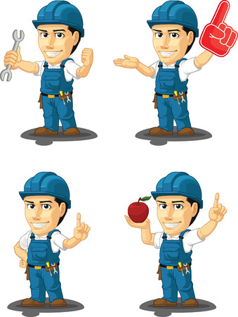 Technician or Repairman Customizable Mascot 10 Vector
