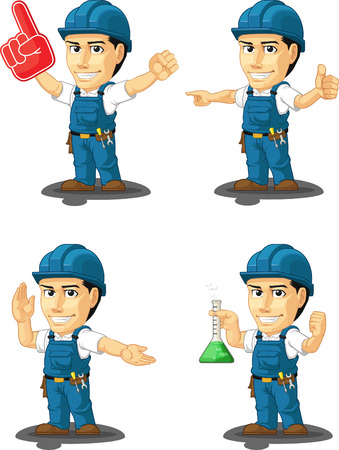 customizable: Technician or Repairman Customizable Mascot 13 Illustration