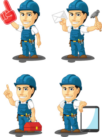 maintenance technician: Technician or Repairman Customizable Mascot 15