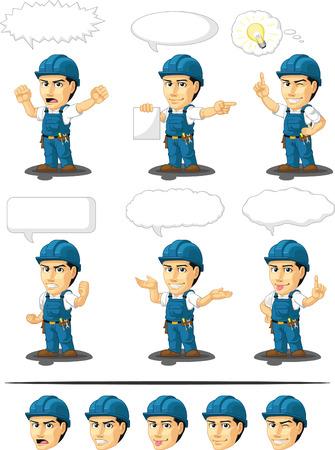 Technician or Repairman Customizable Mascot 17