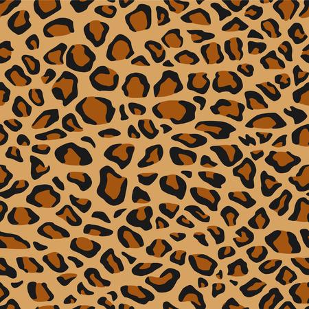 Leopard Fur or Skin Seamless Pattern Vector