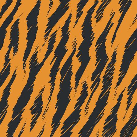 tiger skin: Tiger Stripes Skin Seamless Pattern