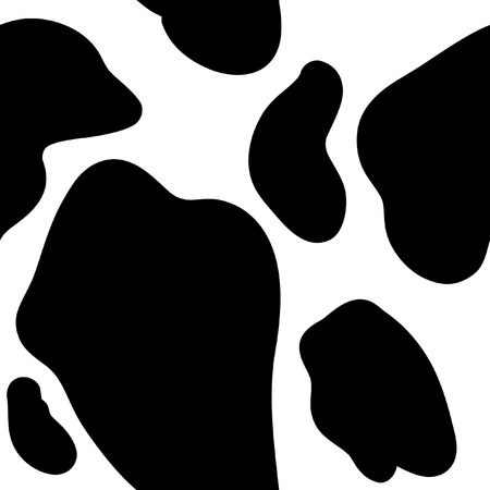 cow vector: Cow Spots Seamless Pattern Background Illustration